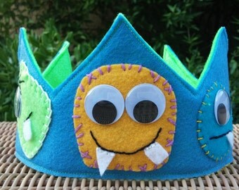 Felt Monster Birthday Crown