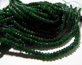 Emerald Green Candy Jade Faceted Rondelle Beads 3mm - 4mm