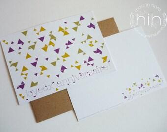 """lot 2 cartes triangolini  """"joyeux anniversaire ! """""""