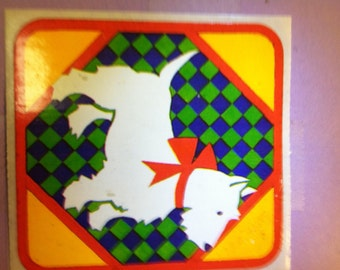 Scottie Dog sticker, 1980's
