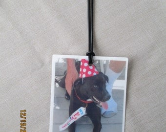 YOUR customized photo luggage tag