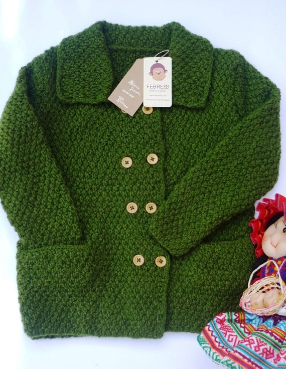 Hand Knitted Baby Jacketcardigan Boy Sweater Hand Knit