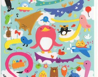 Kawaii Japan sticker Sheet Assort: Novelty Yuru BIG Birds Stickers for Diy Decoration Schedule Book Planner R