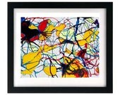 11 x 8.5 Monochromatic Organic Abstract Expressionism Limited Art Print