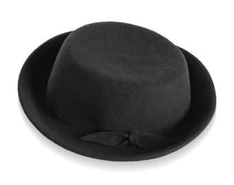 Black Felt Hat For Women, Franky