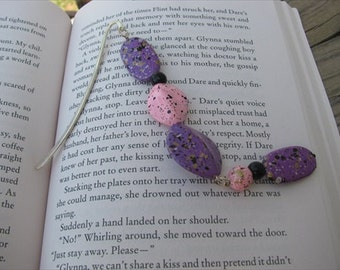 JEWELRY SALE- Beaded Bookmark Pink, Purple, Black