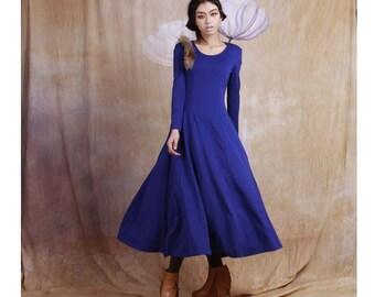cotton dress maxi  dress long dress