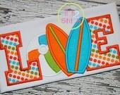 Custom Surf Board Beach Ball Love Applique Tshirt Or Onesie