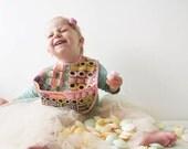 sweets bib / candy bib / lolly bib