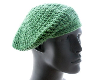 PDF Crochet Hats Pattern: The Barely Beret and Slightly Slouchy for Women and Men, Instant Download