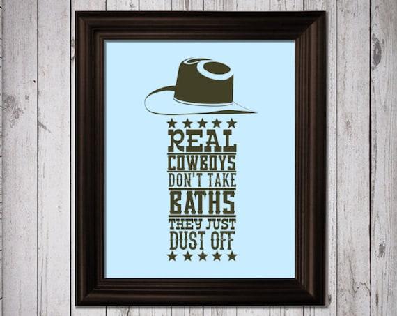 Cowboy Wall Decor Nursery : Cowboy rodeo art print bedroom by rainbowslollipopsart
