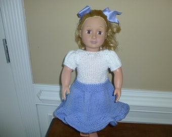 American Girl Spring/Summer Dress - Hand Knit