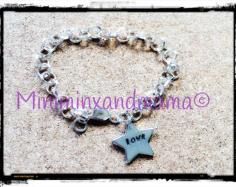 Personalised Sterling Silver Charm Bracelet