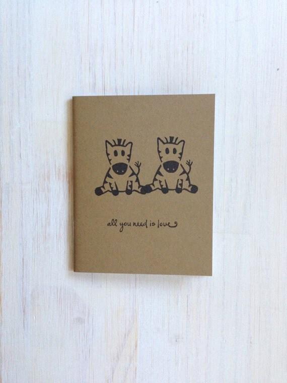 Notebook: Cute, Zebra, Zebras, Love, Wedding, Valentines Day, Journal ...