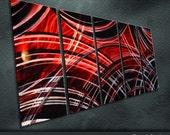 "Original Metal Wall Art Modern Painting Sculpture Indoor Outdoor Decor ""Collision Effect"" by Ning"