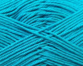 100% cotton yarn Turquoise Camilla Mercerised Cotton, 25gr/ 125m, fine yarn, baby yarn