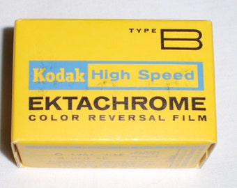 KODAK EKTACHROME Type B High Speed 1961 Expired 35mm film lomo slide film 20 exp