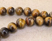 "One Full Strand -- Charm AB  Yellow Tiger Eye Stone Gemstone Beads--- 12mm 14mm 16mm  ----about 33Pieces---- 15.5"" in length"