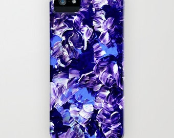 FLORAL FANTASY 2 iPhone 4 5 5c SE 6 6s 7 and 7 Plus Case Samsung Galaxy Purple Blue Abstract Floral Girly Flower Pattern Gift Her Cell Cover