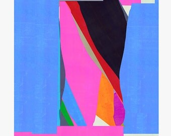 Abstract composition 357 - modern art - minimal - collage - mixed media - 29,7 x 29,7 cm
