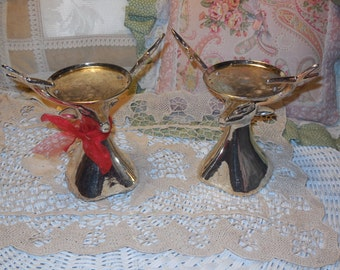 RESERVED/Pair of Deer Candle Holders :)S/SALE Use Coupon Code CLEARINGOUT25  Must Be used at check out can not change after paying for item.
