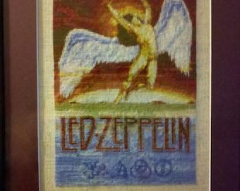 Led Zeppelin Cross Stitch Pattern Downloadable files