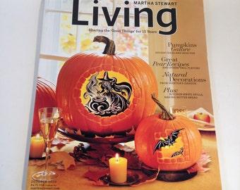 Martha Stewart Living Magazine Halloween #155 October 2006 Pumpkins Galore, Fall Recipes, Fall Decorating