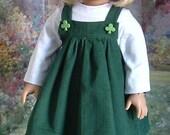 St Patricks Day pull, haut, des collants et des chaussures pour American Girl