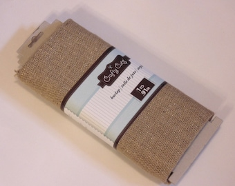 1 yard of natural burlap with glitter (ZZ)