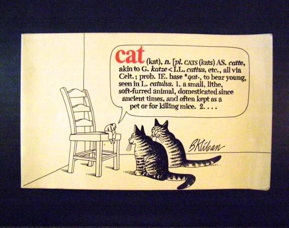 VINTAGE 1975 CAT Cartoon Book by B. KLIBAN / FunkAndMore Vintage