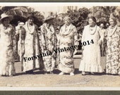 Hawaiian Lei Girls, Honolulu - 1920s RPPC