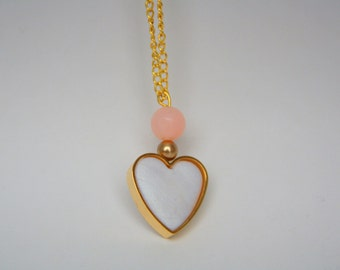 Romantic Gold heart LONG NECKLACE
