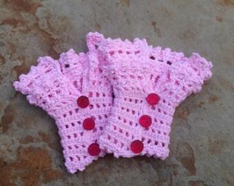 Beautiful lacy crochet wristlets