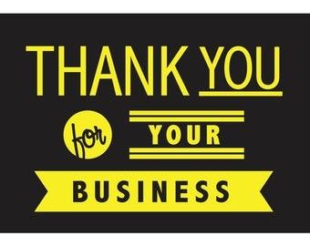 Business Thank You PostCard