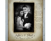 Wedding  Distressed Vintage Hand Stained Picture 5x7 Father of the Groom Future Mother in Law Photo Frame - Personalized Gift - Keepsake