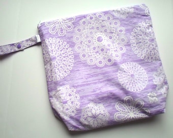Wet Bag with Snap Handle - Waterproof Zipper Bag Purple