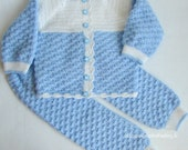 SALE!!!  Crochet Baby Boy Pant and Jacket / Sweater / Cardigan