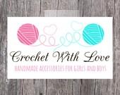 Crochet/Sewing Yarn Premade Business Logo Design