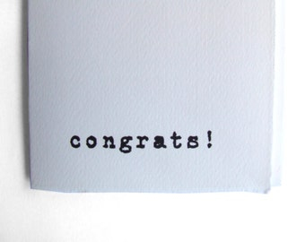 Congratulations Card - 'congrats' for all those moments that need celebrating !