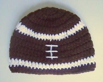 Newborn Baby Boy Brown Football Hat With White Stripes 1 2 3  Month Old Infant Girl Fall Beanie Sports Winter Cap