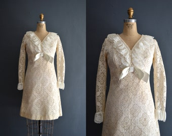 Danae / 60s short wedding dress / lace dress