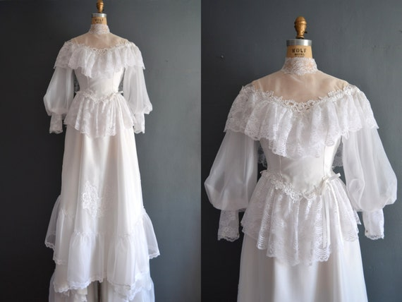 Sale 80s wedding dress 1970s wedding dress valeria for 1970s wedding dresses for sale