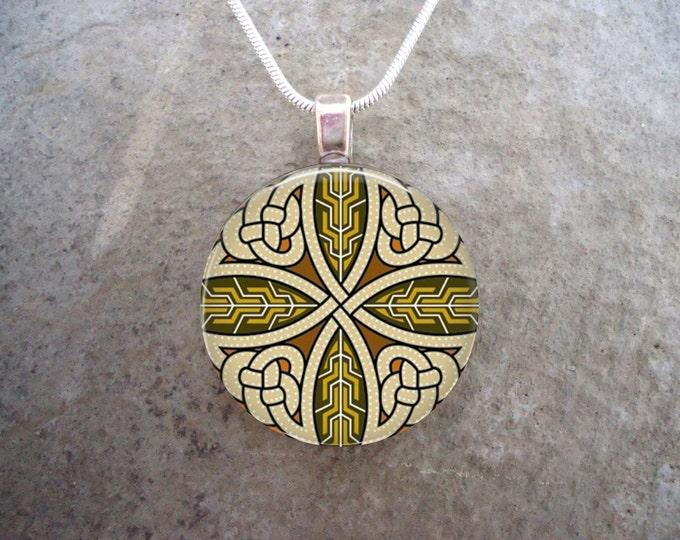 Celtic Jewelry - Glass Pendant Necklace - Celtic Decoration 38