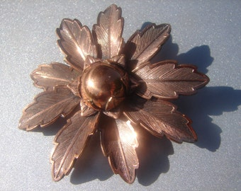 Bell Copper Flower Brooch 201.