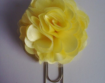 Large Bookmark - Yellow Flower Bookmark - Flower Paperclip - Giant Paperclip - Jumbo Paperclip - Journal Marker - Bible Marker - Bookmark
