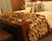 Burlap Ruffle Throw! Beautiful Burlap Decor