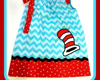 Cat in the Hat Pillowcase Dress