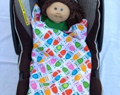 Car Seat Blanket: Wraps Under Baby and Won't Fall Off - Minky Fabric