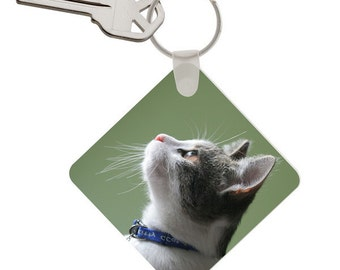 Custom Cat Photo Keychain