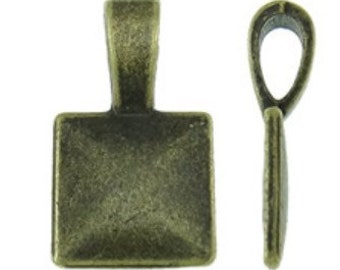 12pc antique bronze finish metal glube on bails-8063
